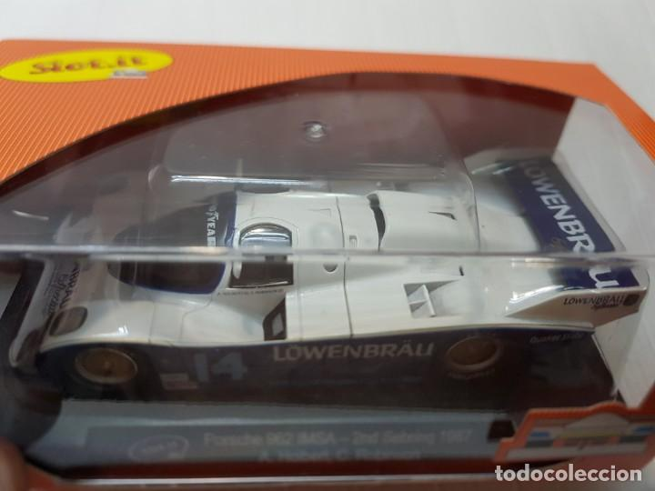 Slot Cars: Coche Slot It Porsche 962 Imsa Löwerbräu en blister dificil - Foto 3 - 213885868