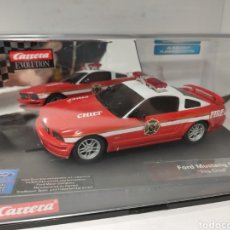 Slot Cars: CARRERA EVOLUTION FORD MUSTANG GT FIRE CHIEF REF. 27177. Lote 214676241