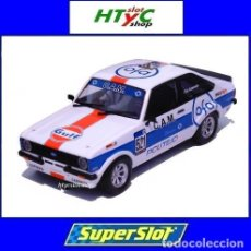 Slot Cars: SUPERSLOT FORD ESCORT MK2 RS2000 #521 GULF EDITION RUI AZEVEDO SCALEXTRIC H4150. Lote 214405795