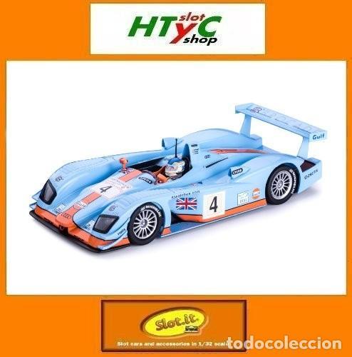 SLOT.IT AUDI R8 LMP GULF #4 LE MANS 2001 CORONEL / LEMARIE / JOHANSSON CA33B (Juguetes - Slot Cars - Magic Cars y Otros)