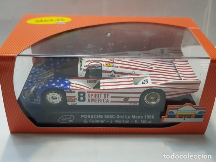 Slot Cars: Coche Slot it Porsche 956C Spirit Of América Bp en blister original - Foto 3 - 217368252