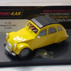 Slot Cars: COCHE SLOT CV 050 CITOËN 2 CV 1974 AMARILLO EN BLISTER ORIGINAL SIN USO. Lote 217372396