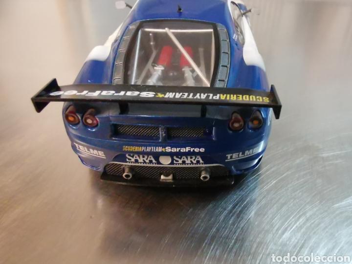 Slot Cars: Coche scalextric de Hornby Ferrari F40 GT azul. Nº36 - Foto 4 - 218232303