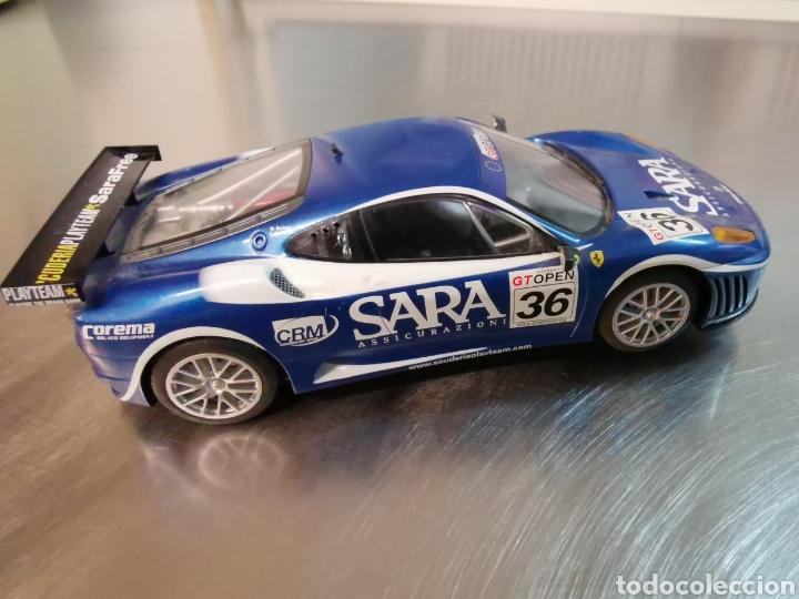 Slot Cars: Coche scalextric de Hornby Ferrari F40 GT azul. Nº36 - Foto 5 - 218232303