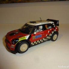 Slot Cars: SUPERSLOT. MINI COUNTRYMAN WRC. EFECTO BARRO. DANI SORDO. Lote 218323603