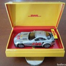 Slot Cars: MERCEDES SLR MCLAREN 722 GT EDICIÓN ESPECIAL DHL SUPERSLOT SLOT CAR. Lote 218994053