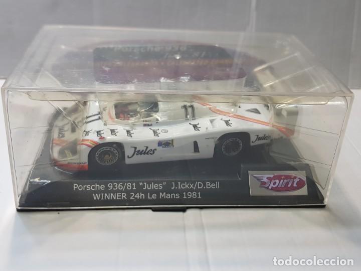 "Slot Cars: Coche Slot Spirit Porsche 936/81 ""Jules"" Winner 24h Le Mans 1981en blister original - Foto 5 - 219523598"