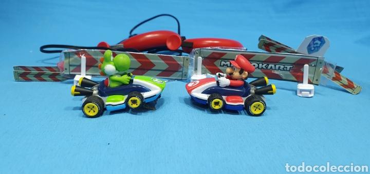 Slot Cars: COCHES SUPER MARIO Y YOSHI- CARRERA - NINTENDO CON DOS MANDOS Y SEÑALIZACIÓN - Foto 2 - 219972821