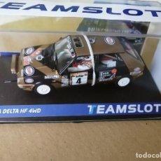 Slot Cars: 12905 - LANCIA DELTA HF 4WD ESSO RALLYE SAN REMO 87 DE TEAM SLOT. Lote 236446515
