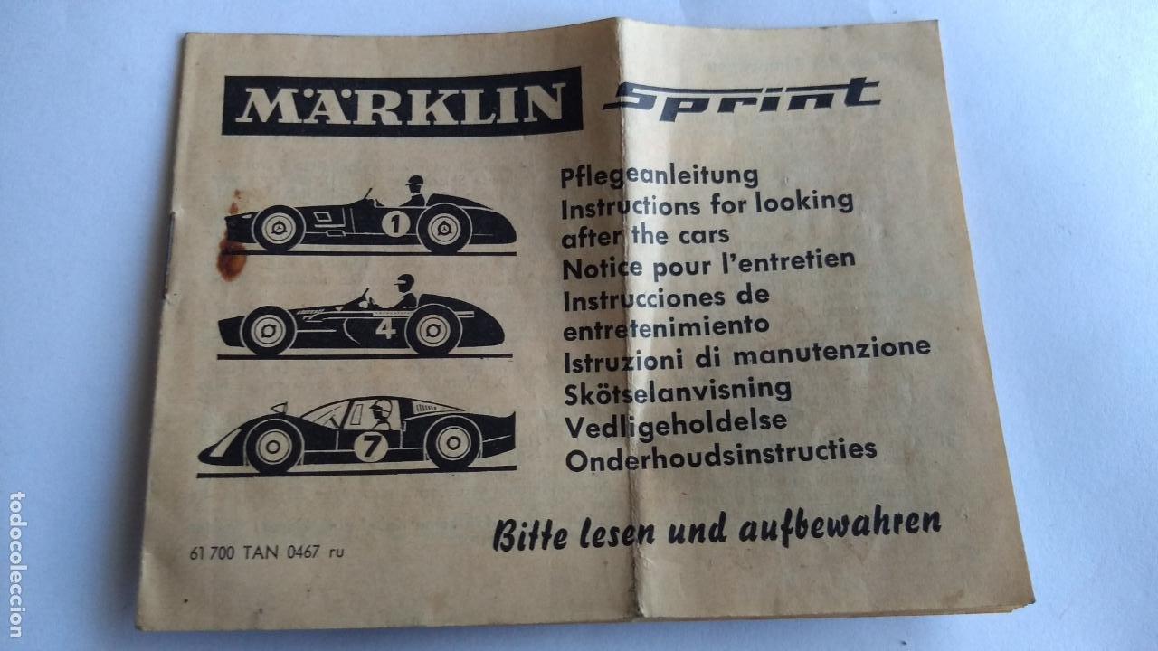 MARKLIN SPRINT SLOT INSTRUCCIONES COCHES (Juguetes - Slot Cars - Magic Cars y Otros)