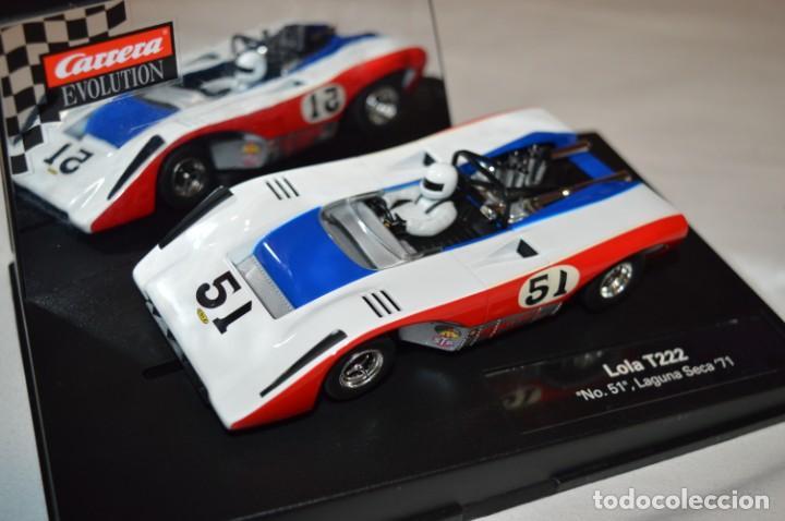 Slot Cars: LOLA T222 DORSAL 51 - CARRERA EVOLUTION - SLOT - BUEN ESTADO GENERAL - FUNCIONA CORRECTAMENTE - Foto 2 - 221596296