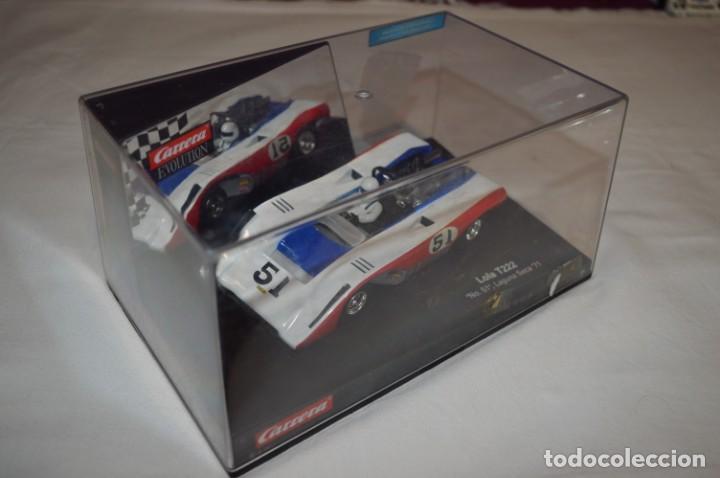 LOLA T222 DORSAL 51 - CARRERA EVOLUTION - SLOT - BUEN ESTADO GENERAL - FUNCIONA CORRECTAMENTE (Juguetes - Slot Cars - Magic Cars y Otros)