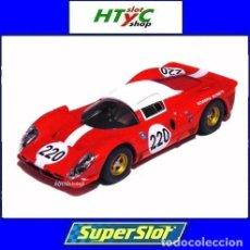 Slot Cars: SUPERSLOT FERRARI 412P #220 TARGA FLORIO 1967 MULLER / GUICHET SCALEXTRIC H4163. Lote 221710570