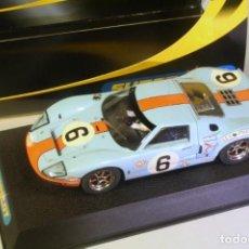 Slot Cars: SUPER SLOT FORD GT 40 1º LE MANS 1969 Nº6 ICKX-OLIVER. Lote 221749255