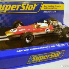Slot Cars: SUPER SLOT LOTUS 49 COSWORTH. JIM CLARK. TASMAN TROPHY, WARWICK FARM 1968. Lote 221749562