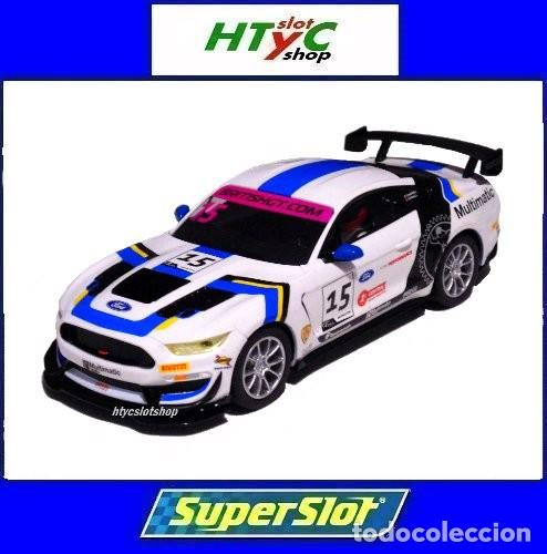 SUPERSLOT FORD MUSTANG GT4 #15 BRITISH GT 2019 MULTIMATIC SCALEXTRIC UK H4173 (Juguetes - Slot Cars - Magic Cars y Otros)