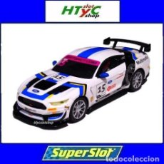 Slot Cars: SUPERSLOT FORD MUSTANG GT4 #15 BRITISH GT 2019 MULTIMATIC SCALEXTRIC UK H4173. Lote 221752850