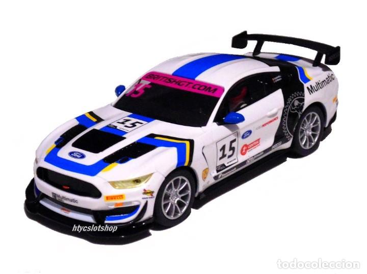 Slot Cars: SUPERSLOT FORD MUSTANG GT4 #15 BRITISH GT 2019 MULTIMATIC SCALEXTRIC UK H4173 - Foto 2 - 221752850