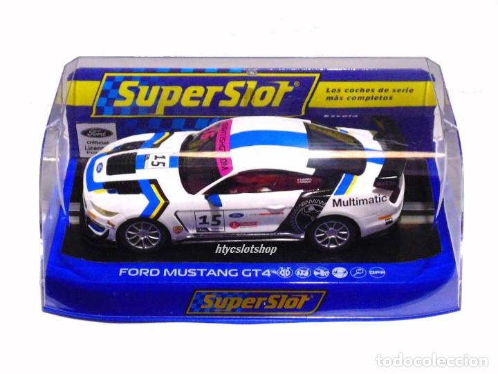 Slot Cars: SUPERSLOT FORD MUSTANG GT4 #15 BRITISH GT 2019 MULTIMATIC SCALEXTRIC UK H4173 - Foto 12 - 221752850