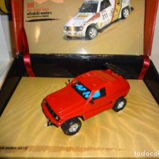 Slot Cars: POWER SLOT. MITSUBISHI PAJERO ROJO. Lote 222097782