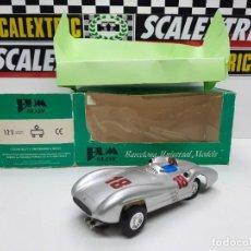 """Slot Cars: BUM SLOT MERCEDES W 196 """"STREAMLINER"""" SCALEXTRIC SLOT DE RESINA!!! EDICION LIMITADA.. Lote 222294796"""