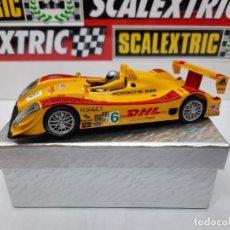 Slot Cars: PORSCHE RS SPYDER DHL #6 SCALEXTRIC SUPERSLOT. Lote 222544882