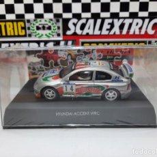 Slot Cars: HYUNDAI ACCENT #14 WRC CARTRIX CASTROL -CATALUNYA PRECINTADO A ESTRENAR! SCALEXTRIC. Lote 222694780