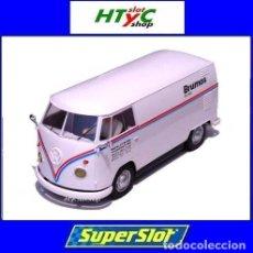 Slot Cars: SUPERSLOT VOLKSWAGEN PANEL VAN T1B BRUMOS PORSCHE RACING SCALEXTRIC UK H4086. Lote 237374345