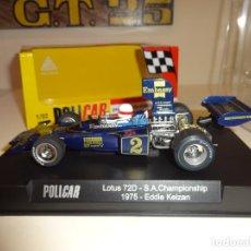 Slot Cars: POLICAR. LOTUS 72D. S.A. CHAMPIONSHIP 1975. EDDIE KEIZAN. REF. CAR02F. Lote 222860577
