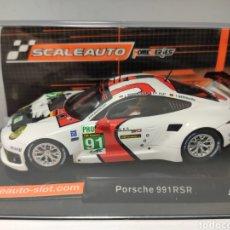 Slot Cars: SCALEAUTO PORSCHE 991 RSR 24H. LE MANS 2013 N°91 REF. SC-6066. Lote 223269260