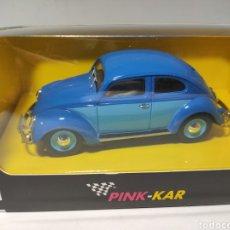 Slot Cars: PINK KAR VW BEETLE AZUL. Lote 223269527