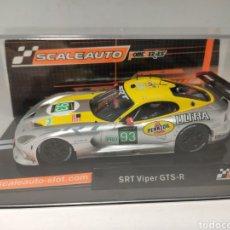 Slot Cars: SCALEAUTO SRT VIPER GTS-R 24 H. LE MANS 2013 N°93 REF. SC- 6036. Lote 223271058