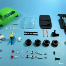 Slot Cars: SLOT 1/32 SEAT / FIAT 600 COLOR VERDE LIMA KIT PLASTICO COMPLETO CLASSIC SCALEXTRIC. Lote 223336327