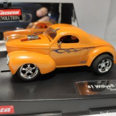 Slot Cars: CARRERA EVOLUTION WILLYS '41 COUPE HOTROD SUPERCHARGED REF. 27224. Lote 223508355