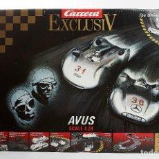 Slot Cars: CIRCUITO SLOT CARRERA EXCLUSIV AVUS – ESCALA 1:24 NUEVO. Lote 224716625