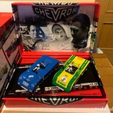 Slot Cars: PACK CHEVRON B19 Y B21 DE FLY REVISTA MINIAUTO. Lote 227203515