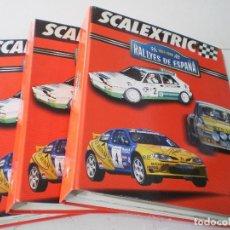 Slot Cars: LOTE 3 TOMOS. RALLYES DE ESPAÑA DE ALTAYA, COMPLETA.. Lote 227613499