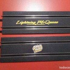 Slot Cars: X2 RECTAS LARGAS CARRERA GO! PROCEDENTES DEL CIRCUITO DE CARS. Lote 227963955