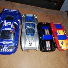 Slot Cars: LOTE 4 COCHES DE PISTA COMO ESCALEXTRIC.. NO SON SCALEXTRIC... Lote 228054085