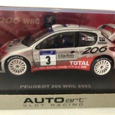 Slot Cars: PEUGEOT 206 WRC 2002 4X4 TOTAL G. PANIZZI/H. PANIZZI #3 AUTOART. Lote 228054835