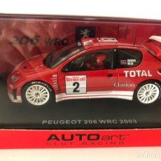 Slot Cars: AUTOART PEUGEOT 206 WRC RALLY 2003 AUTOART. Lote 228061535