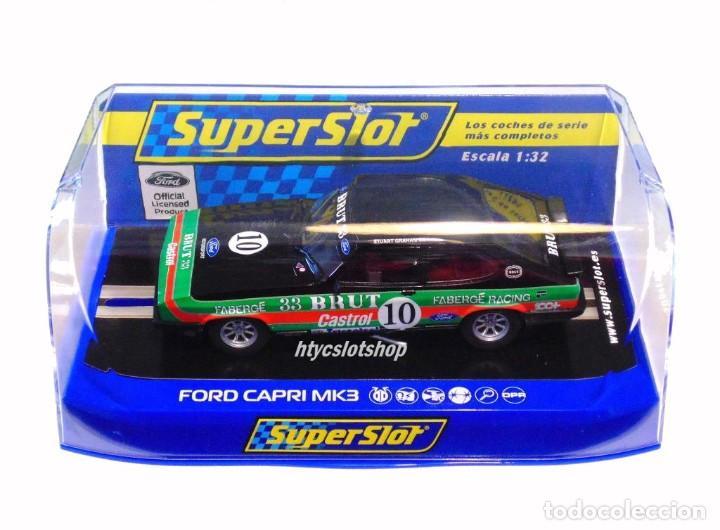 Slot Cars: SUPERSLOT FORD CAPRI MK3 #10 STUART GRAHAM CASTROL FABERGE BRUT 33 SCALEXTRIC UK H4101 - Foto 12 - 228628725