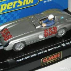 Slot Cars: MERCEDES 300 JUAN MANUEL FANGIO SUPERSLOT/SCALEXTRIC NUEVO EN CAJA. Lote 228688850