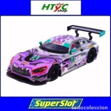 Slot Cars: SUPERSLOT MERCEDES AMG GT3 #71 P1 MOTORSPORT DAYTONA 2018 SCALEXTRIC H4044. Lote 245716990