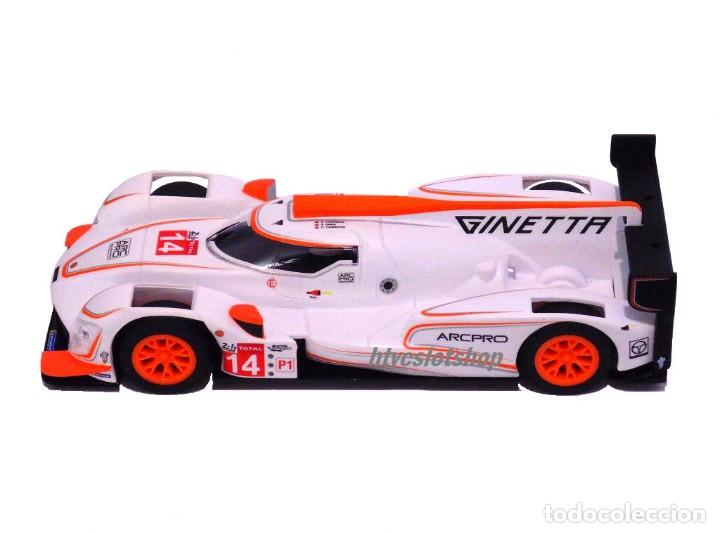 Slot Cars: SCALEXTRIC GINETTA G60-LT-P1 #14 WHITE / ORANGE SUPERSLOT H4061 - Foto 3 - 231399500