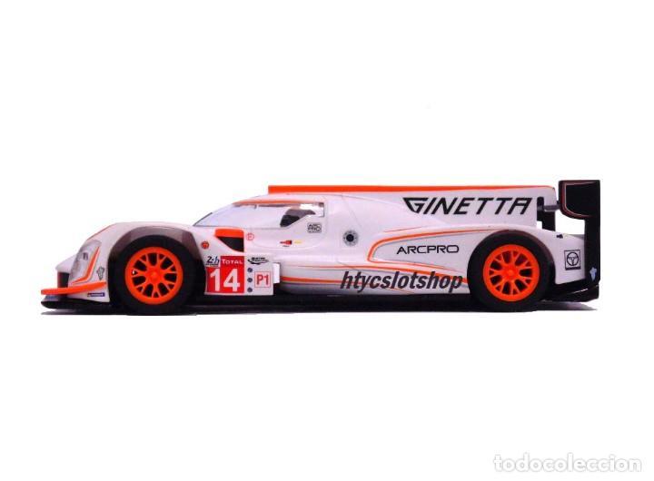 Slot Cars: SCALEXTRIC GINETTA G60-LT-P1 #14 WHITE / ORANGE SUPERSLOT H4061 - Foto 4 - 231399500