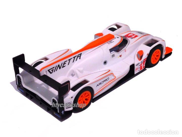 Slot Cars: SCALEXTRIC GINETTA G60-LT-P1 #14 WHITE / ORANGE SUPERSLOT H4061 - Foto 5 - 231399500