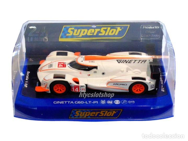 Slot Cars: SCALEXTRIC GINETTA G60-LT-P1 #14 WHITE / ORANGE SUPERSLOT H4061 - Foto 9 - 231399500