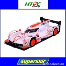 Slot Cars: SCALEXTRIC GINETTA G60-LT-P1 #14 WHITE / ORANGE SUPERSLOT H4061. Lote 231399500
