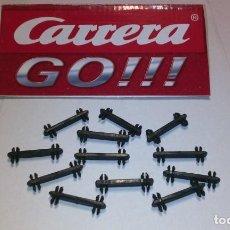 Slot Cars: CARRERA GO ESCALA 1/43 LOTE 12 CLIPS DOBLES SUJECCION DE PISTAS TENGO LOS QUE QUIERAS. Lote 231703770